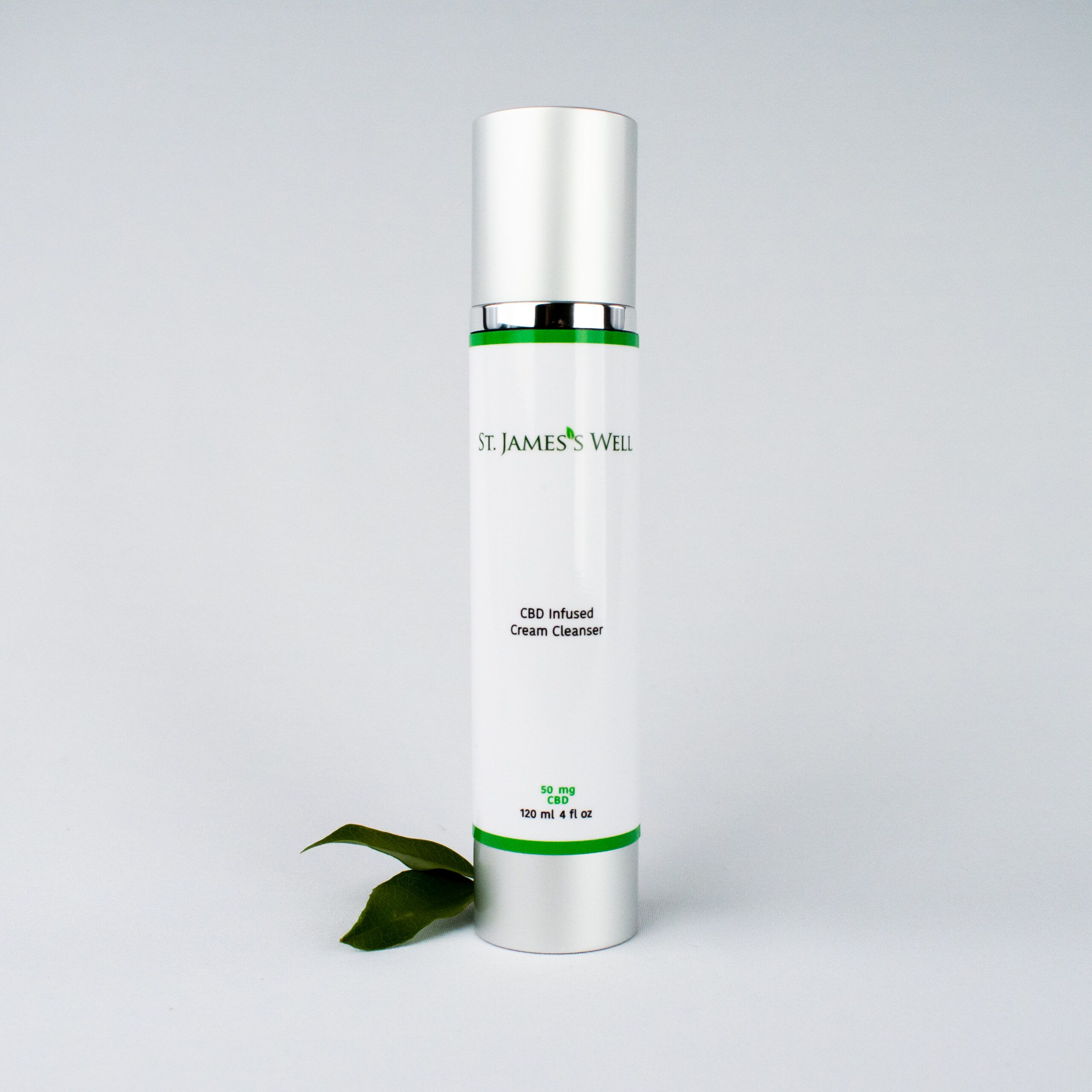 St. James's Well CBD Infused Cream Cleanser With Leaf